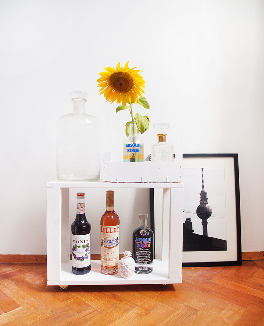 DIY mit Upcycling: Der Mini-Bartrolley